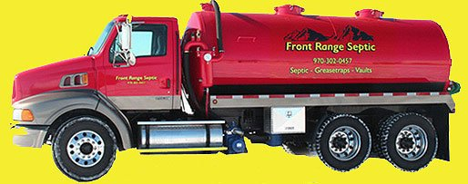 Fort Collins septic tank pumping truck